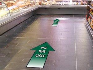 Aisle Arrow Decals